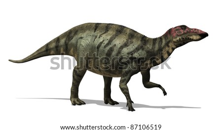 The Shuangmiaosaurus was a dinosaur that lived in China during the Cretaceous period in China - 3D render.