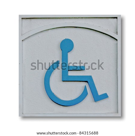 The Sign of public restroom for handicapped