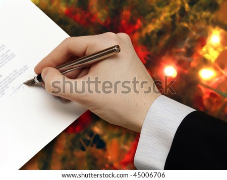 The Signature of Business Contract on the colorful Background
