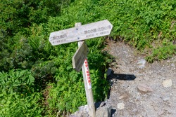 The signpost in Mt. Kitadake:Translation