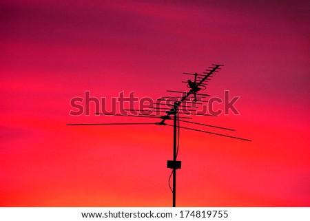 The silhouette TV antenna