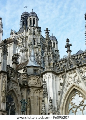 The sint Jan cathedral in Den Bosch in the Netherlands