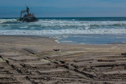 the Skeleton Coast is the northern part of the Atlantic Ocean coast of Namibia and south of Angola from the Kunene River south to the Swakop River