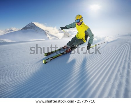 The Skier (first on the piste)