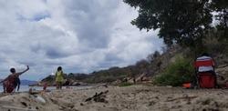 the sky and the beach family day in palmar de ocoa republic republic