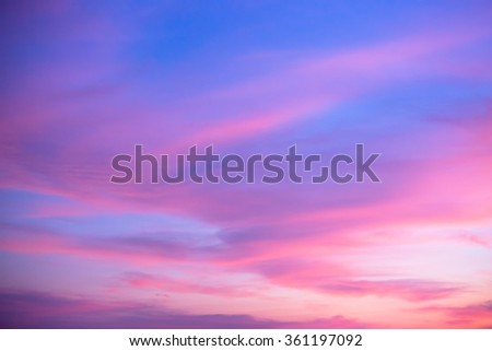 The sky in twilight time background. #361197092