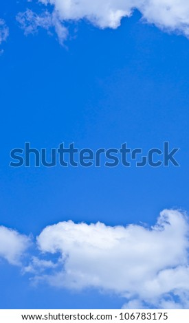 The sky is blue and white clouds