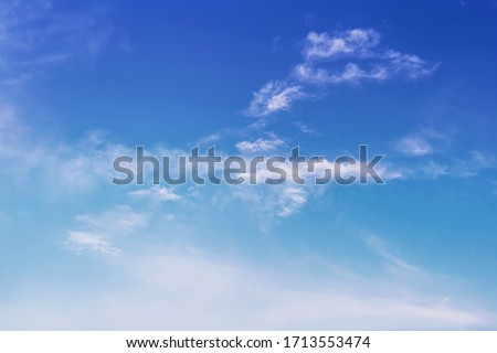 The sky is blue with clouds, beautiful by nature.