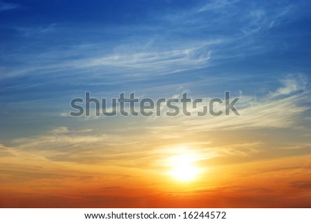 The sky. Sunrise - stock photo
