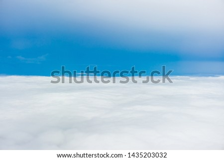 The sky view of tropopause layer of the Earth's atmosphere. The region between the troposphere and the stratosphere. #1435203032