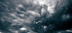 The sky with dark thunderclouds
