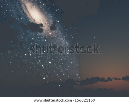 the sky with the Milky Way