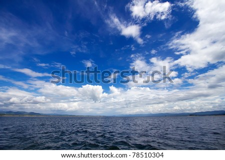 The sky with the water