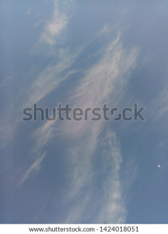 the sky with windy cloud