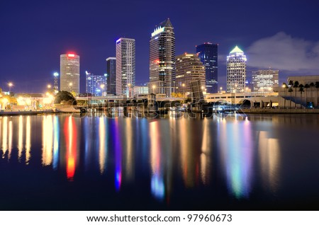 The skyline of downtown Tampa, Florida