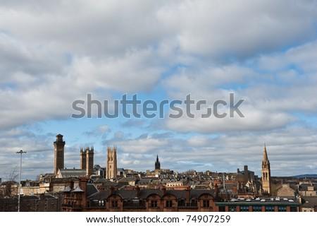 The skyline of Glasgow, Scotland