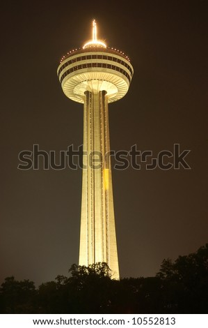 The Skylon tower at Niagara Falls, Canada