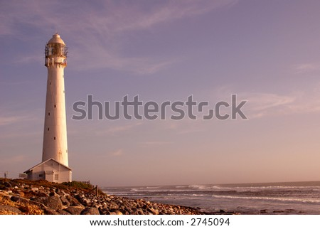 The Slangkop Lighthouse in Kommetjie, Western Cape. The tallest lighthouse in South Africa.