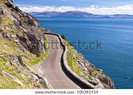 The Slea Head Drive is a circular route, beginning and ending in Dingle, that takes in a large number of attractions and stunning views on the western end of the peninsula in Ireland.