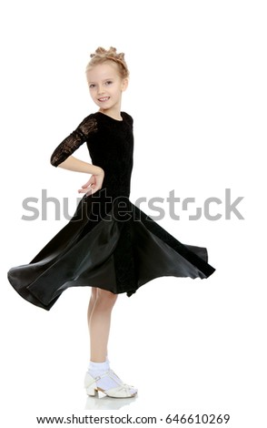 62ec14376 Free photos Beautiful little blond ballerina girl in pink dress ...