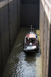 the sluice and the boat