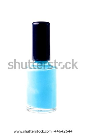 The small bottle with pink nail polish, is used in the course of manicure.