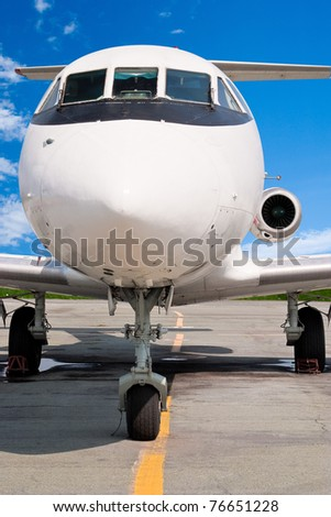 The small business jet. Front View