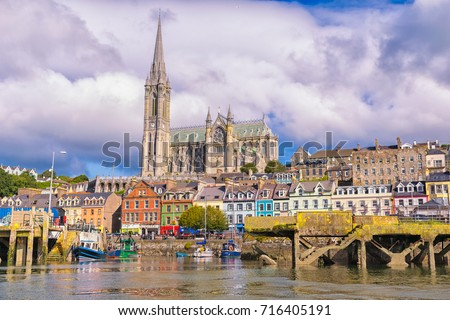 The small fishing port of Cobh, Ireland. A beautiful romantic place to visit. Inside the county Cork.