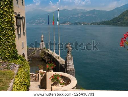 The small private harbor of Villa Del Balbianello