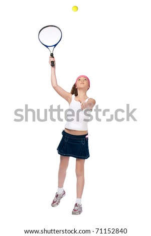 The small tennis-player. 10 years old.
