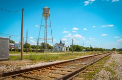 The small town of Anna, Texas. From the perspective of the center of the town.
