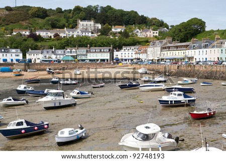 The small town of Gorey on the channel island of Jersey, UK