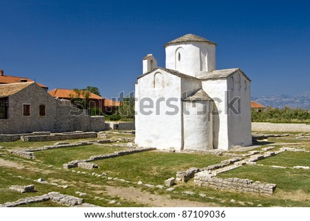 The smallest cathedral in the world, church of the Holy cross, built in the 9th century.
