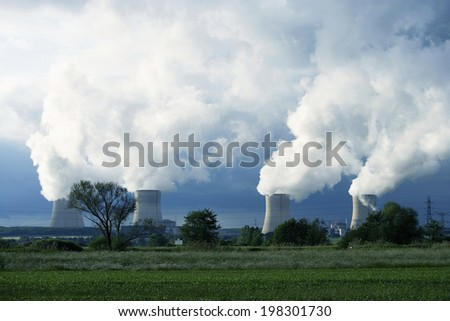 The Smoke And Chimney Of A Nuclear Power Plant #198301730