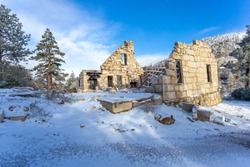 The snow fallen overnight has made the Old Dam Keepers home just beautiful !