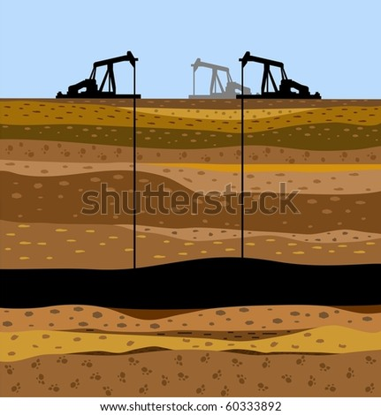 The soil image in a cut with the oil-extracting industry