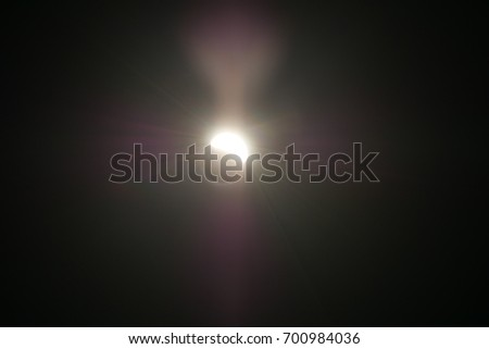 the solar eclipse it got so dark. #700984036