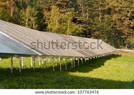 The solar power - solar panels