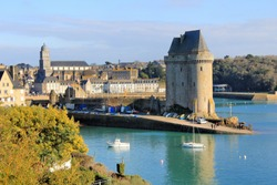 The Solidor tower of Saint-Servan Saint-Malo in Brittany. France