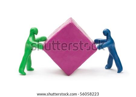The solution of contentious issues. - stock photo