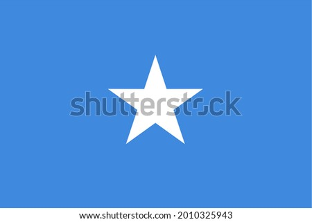 the Somali national flag of Somalia, Africa Zdjęcia stock ©