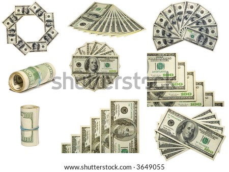 the some figures from us dollars isolated on white - stock photo