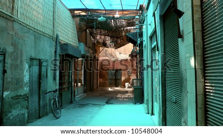 The souk, Marrakesh, Morocco - stock photo