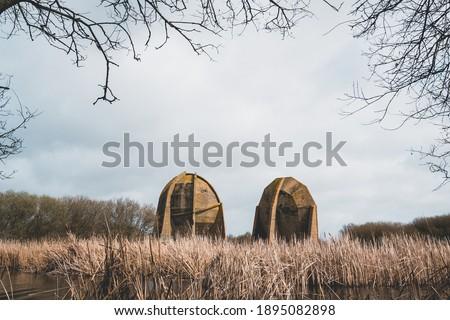 The sound mirrors at Denge, Dungeness ストックフォト ©