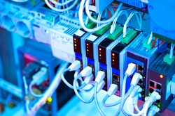 The source of electrical power. Wires connected to power supply. Cables in electrical connectors. Support of power supply. Ensuring the supply of current. Electrical products. Electrical engineering.