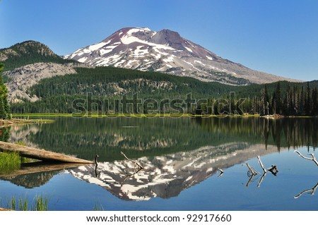 The South Sister Reflected in Sparks Lake
