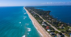 The southern end of Brevard County ends at Sebastian Inlet in the distance