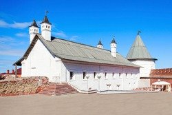 The southern housing of the Artillery Court of the Kazan Kremlin. The Kazan Kremlin is the chief historic citadel of Tatarstan, situated in the city of Kazan.