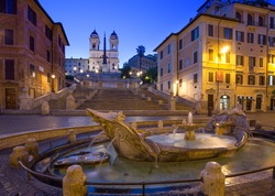 The Spanish Steps in Rome . Italy.