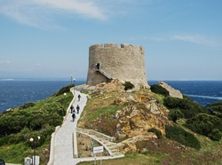 The spanish tower of S.Teresa Gallura